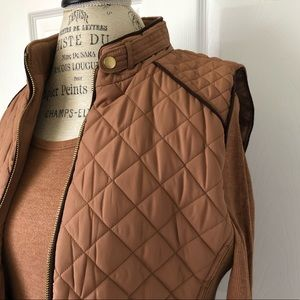 Active USA brand women's camel/brown colored vest.